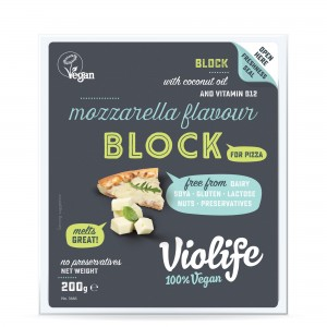 Violife mozzarella do pizzy blok 200g