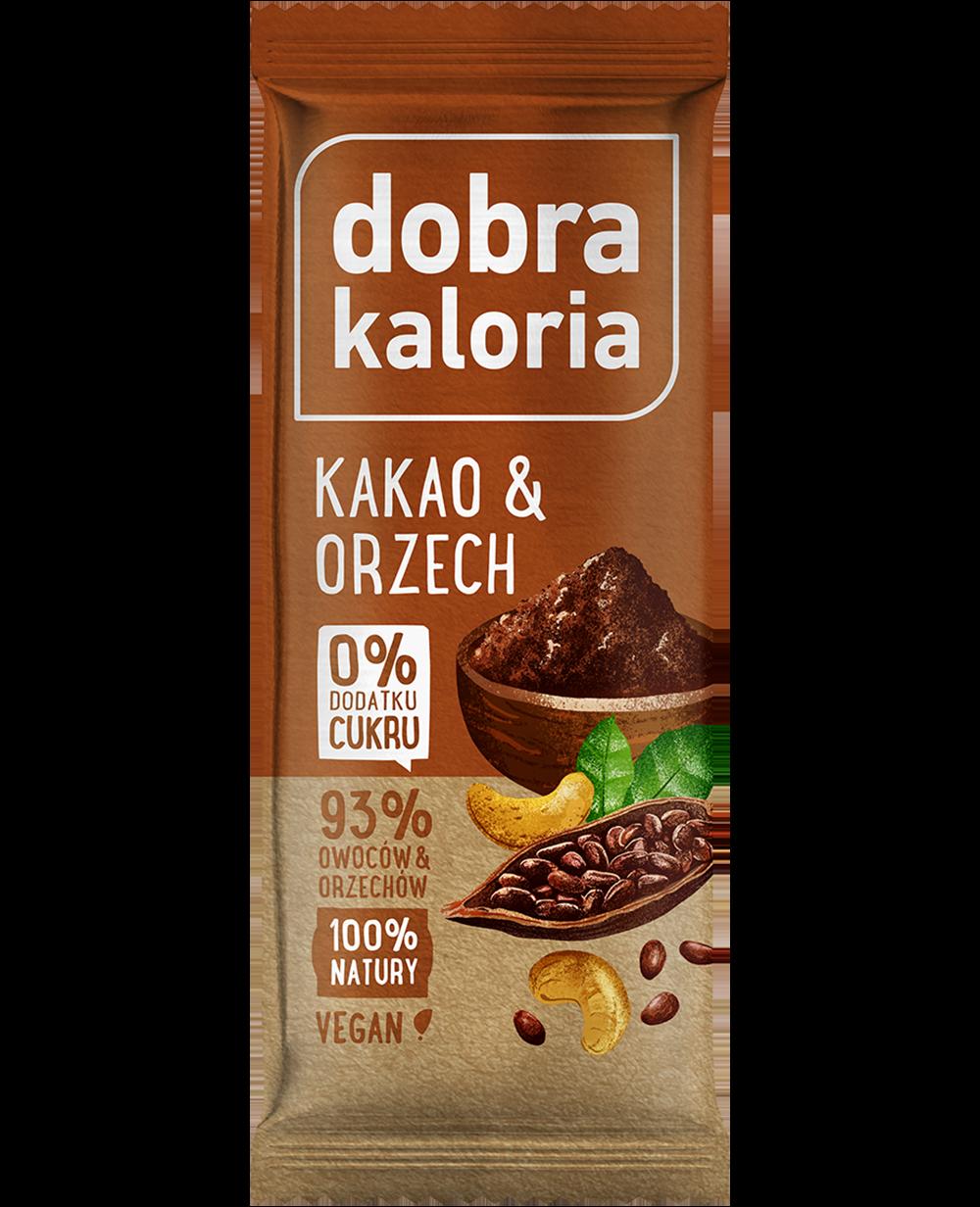 Baton owocowy kakao & orzech 35 g DOBRA KALORIA Hurtownia..